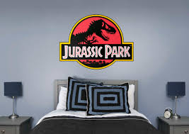 jurassic park classic logo giant officially licensed removable wall decal fathead wall decal