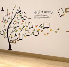 large family tree wall decal sticker vinyl photo frame removable home decor