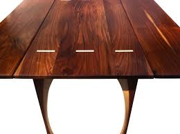 hand made drop leaf dining table solid walnut 48 inches square seats 8 contemporary modern lines made to order from studio1212 custommade com