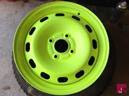 painting steel wheels painted