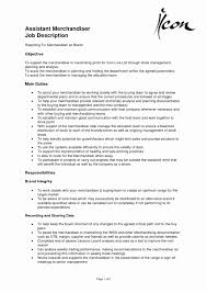 Resume Sample For Merchandiser Best Of Fashion Merchandising Resume