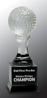 crystal golf ball award golf crystal awards trophies and gifts
