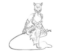 Small Picture Catwoman 17 Superheroes Printable coloring pages