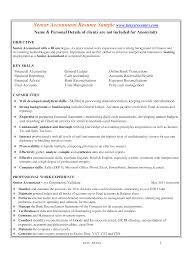Professional Accountant Resume Professional Senior Accountant Resume Templates At