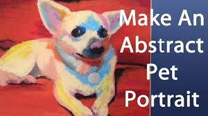 secret technique for painting easy abstract pet portraits with oil pastels you