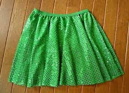 Wolff Fording Size Chart New Wolff Fording Silver Sequin Costume Fringe Skirt Jade