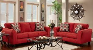 why red sofa and loveseat is the new