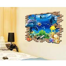 <b>3D</b> Children Room Sofa Background Underwater World Pattern Wall ...