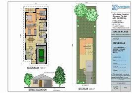 adorable narrow lot house plans single story regarding