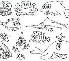 Free Ocean Coloring Pages Le Ocean Coloring Pages Preschool Life Sea