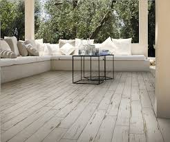 painted white 150x900mm wood grain porcelain tile with a distressed painted effect you won