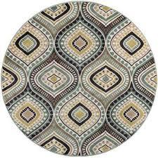 capri seafoam 5 ft round area rug