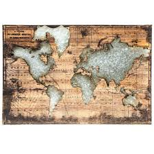world map wood wall decor