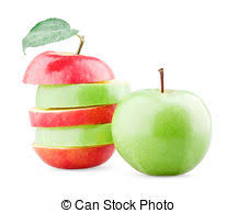 green and red apples. mix of green and red apples