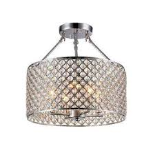kirsten 4 light chrome indoor crystal semi flush mount light