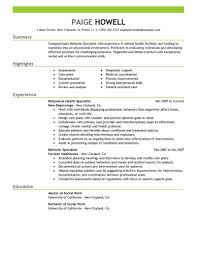 Mental Health Professional Resume Sample Best Behavior Specialist Resume Example LiveCareer 8