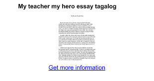 my teacher my hero essay tagalog google docs
