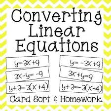 Equation  Student and The o     jays on Pinterest Pinterest This card sort  amp  homework is designed to strengthen students      skills in converting between the   forms of linear equations  Slope Intercept  Standard  and