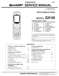 SHARP GX10I Service Manual download ...