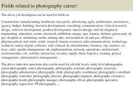Rsum Senior Photographer Media And Entertainment 16 Fields