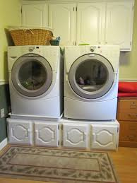 Washer And Dryer In Kitchen Washer Dryer On A Coffee Table Diy Pedestalmuch Easier Than