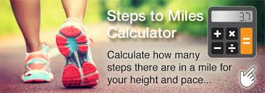 Steps To Miles Conversion Chart Approximate How Many Steps Are In A Mile