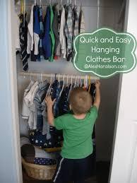 diy closet bar extender organizing bedroom hanging closet rod expander