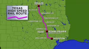 Houston Proposed Light Rail Map Bullet Train From Houston To Dallas Takes Another Step
