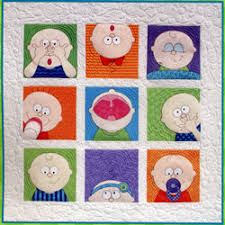 Peek-a-Boo Crib Set by Amy Bradley, Quilts, Bumpers and more & Peek-a-Boo quilt example Adamdwight.com