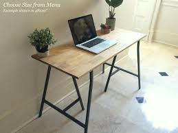 Home Office Desks Furniture Cool Home Office Desk With Ikea Legs Available In Multiple Sizes Etsy