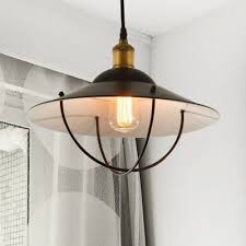 home decoration creative 11 02 w black shade pendant light with wire guard in vintage style