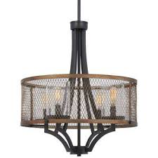 marsden commons 4 light smoked iron with aged gold pendant with clear seedy glass shade