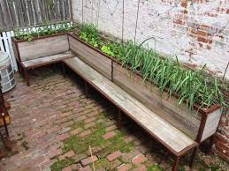 picture of backyard planter and seating