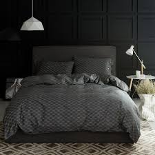 noble geometric dark gray bedding sets queen king double twin size inside charcoal duvet cover ideas 2