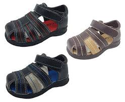 Grosby Size Chart Boys Shoes Grosby Lee Black Navy Brn Leather Upper Sandals Size 4 12 New Ebay
