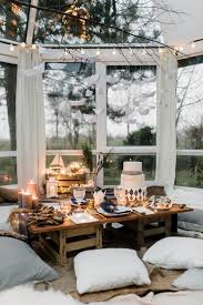furniture fairy. Image Source Beautiful Dining Area With Low Height Furniture, Fairy Lights And Floor Cushions | Nonagon Furniture