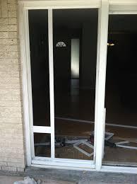 picture of dog door installation sliding glass door