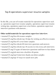 Operations Supervisor Resume Templates top224operationssupervisorresumesamples150331212422456conversiongate224thumbnail24jpgcb=124272245652245 1