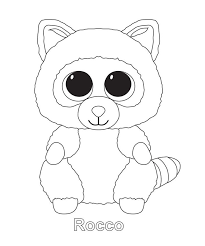 Beanie Boo Coloring Pages Only Elegant Colouring Ty Beanies
