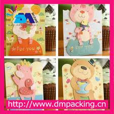 Birthday Cards Design For Kids Kids Gift Korean Creative Lovely Cartoon Bear Greeting Cards Thank