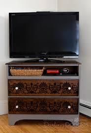 Corner Tv Cabinet With Hutch Dresser Turned Tv Stand Darling Doodles