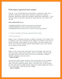 Evaluation Letter For Employee Performance Appraisal Sample 1 Good ...