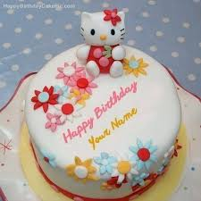 Free Download Kiti Birthday Hello Kitty Birthday Cake With Name