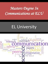 Masters Degree In Communications At Elu