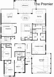 unique 4 bed 3 bath house plans e y floor plan new single story house 5