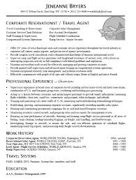Travel Resume Examples Examples Of Resumes