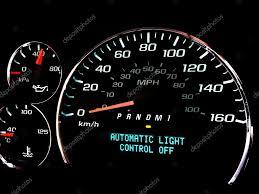 Automatische Licht Controle Uit Waarschuwingslampje Stockfoto