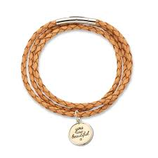 you are beautiful natural fine leather wrap bracelet positively charmed charm ranges collections