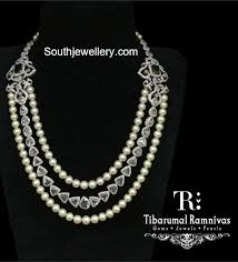 Diamond Designs Diamond South Sea Pearl Mala Jewellery Designs