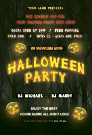 Costume Contest Flyer Template Download The Free Halloween Party Night Flyer Template For